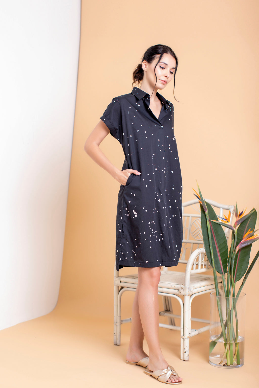 Snowfall Boxy Shirt Dress