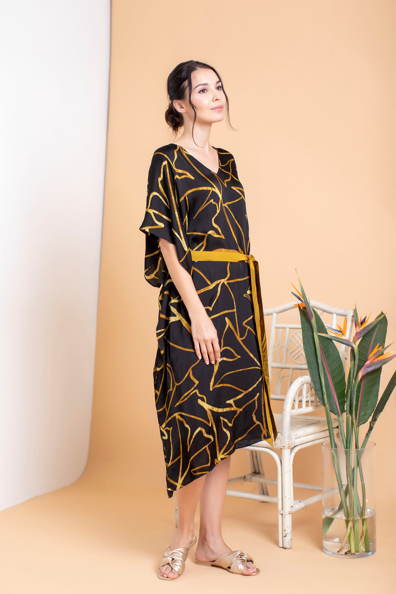 Amani Asymmetrical Midi Dress