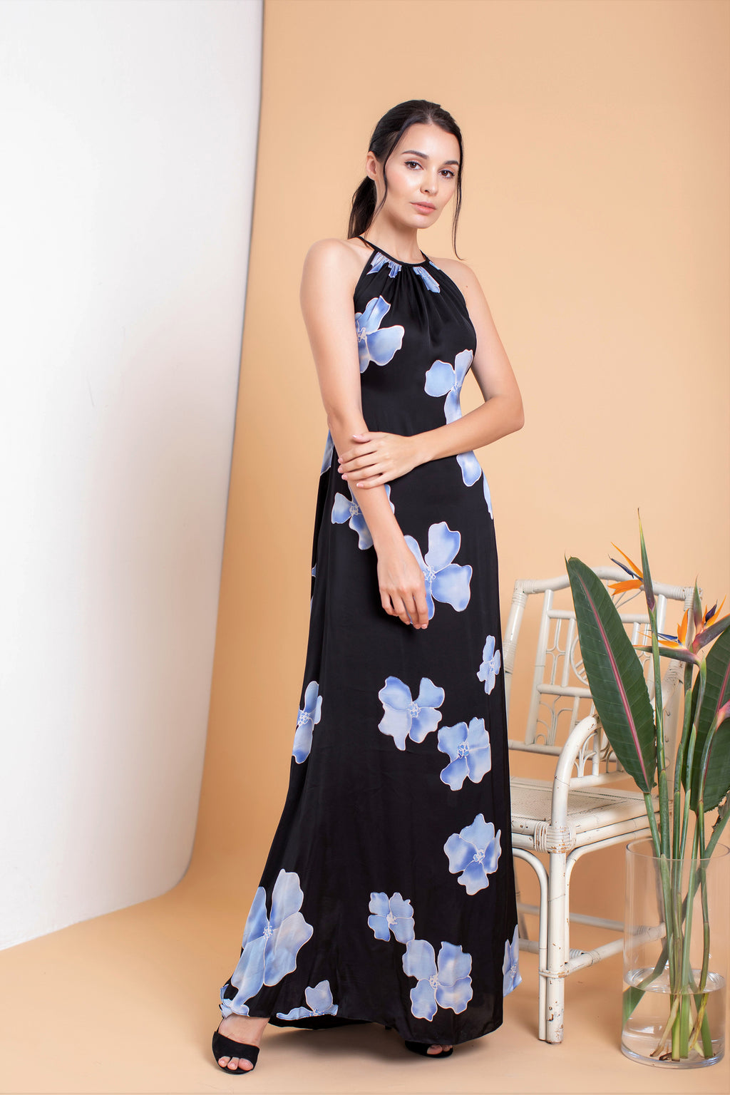 Cassandre Halter Maxi Dress - FERN