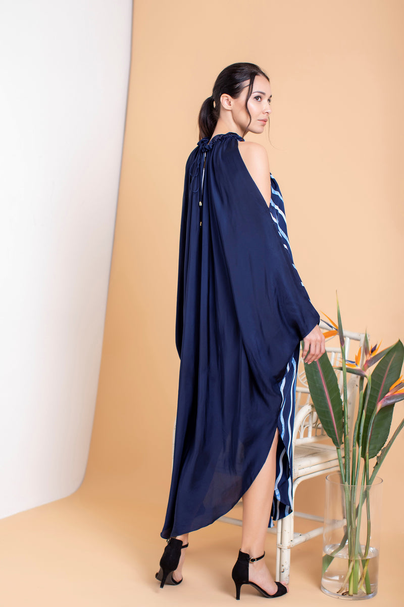 Waves Multiways Drape Halter Dress