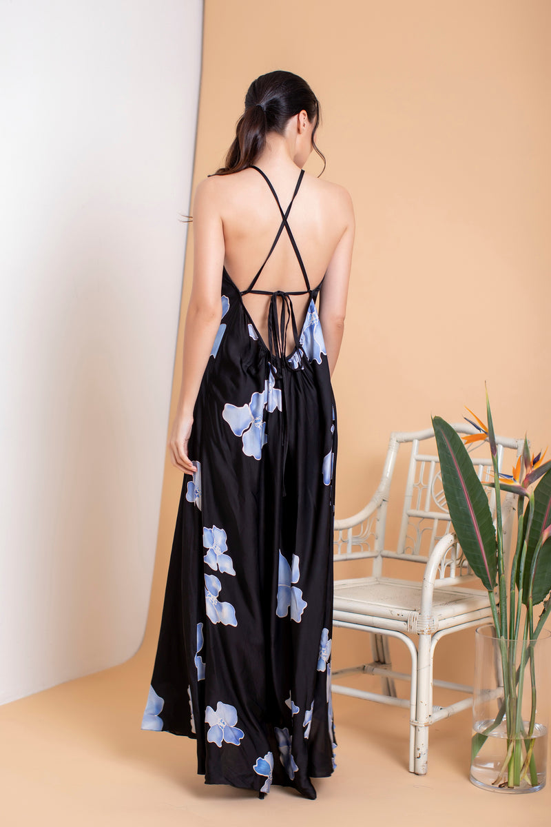 Cassandre Halter Maxi Dress