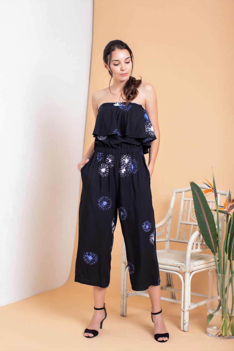 Penelope Off Shoulder Jumpsuit - FERN