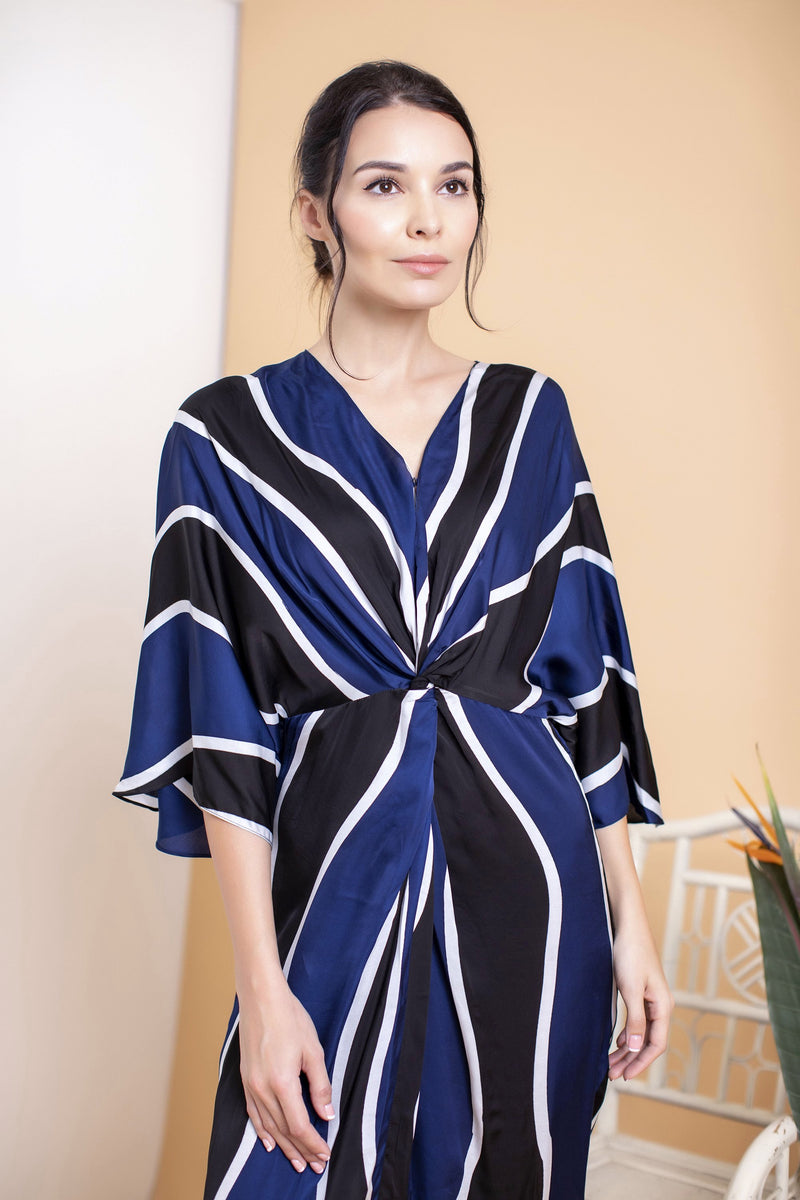 Waves Long Front Twisted Kaftan