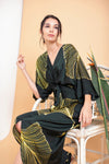 Zaira Front Twisted Kaftan - FERN