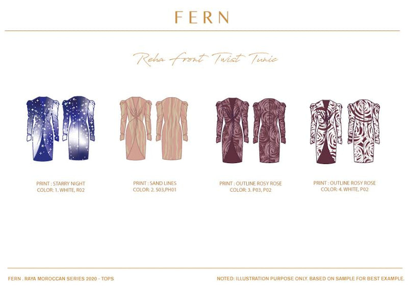 Reha Front Twist Tunic - FERN