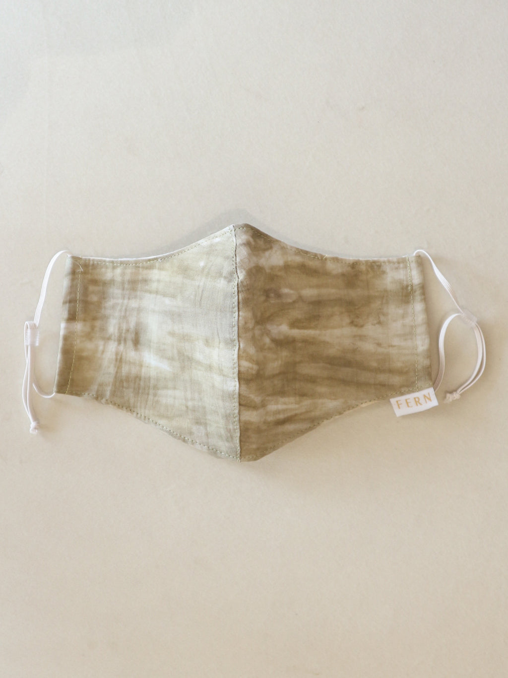 Face Mask - Tie Dye Grass Olive - FERN