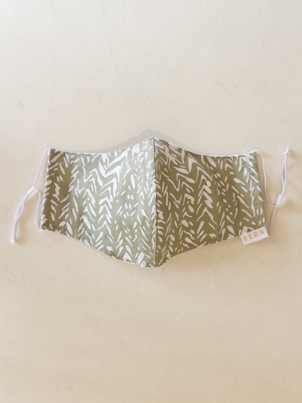 Face Mask - Mini Chevron Olive - FERN