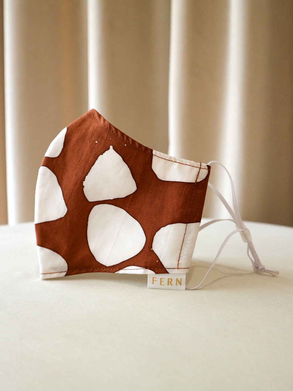 Face Mask - Giraffe Chip Burnt Orange - FERN