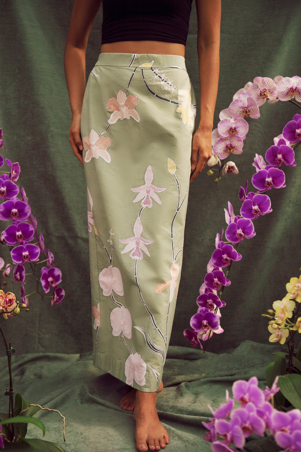 Teka Pencil Skirt Jungle Orchid