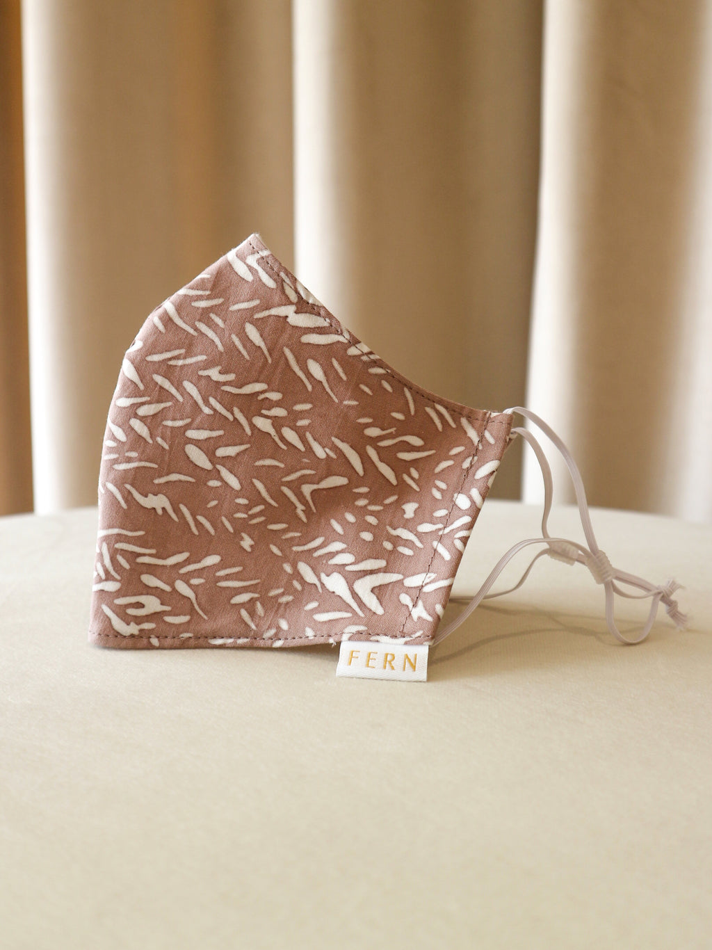 Face Mask - Mini Chevron Burnt Orange - FERN