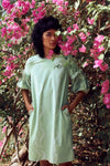 Mirte Puff Dress - FERN