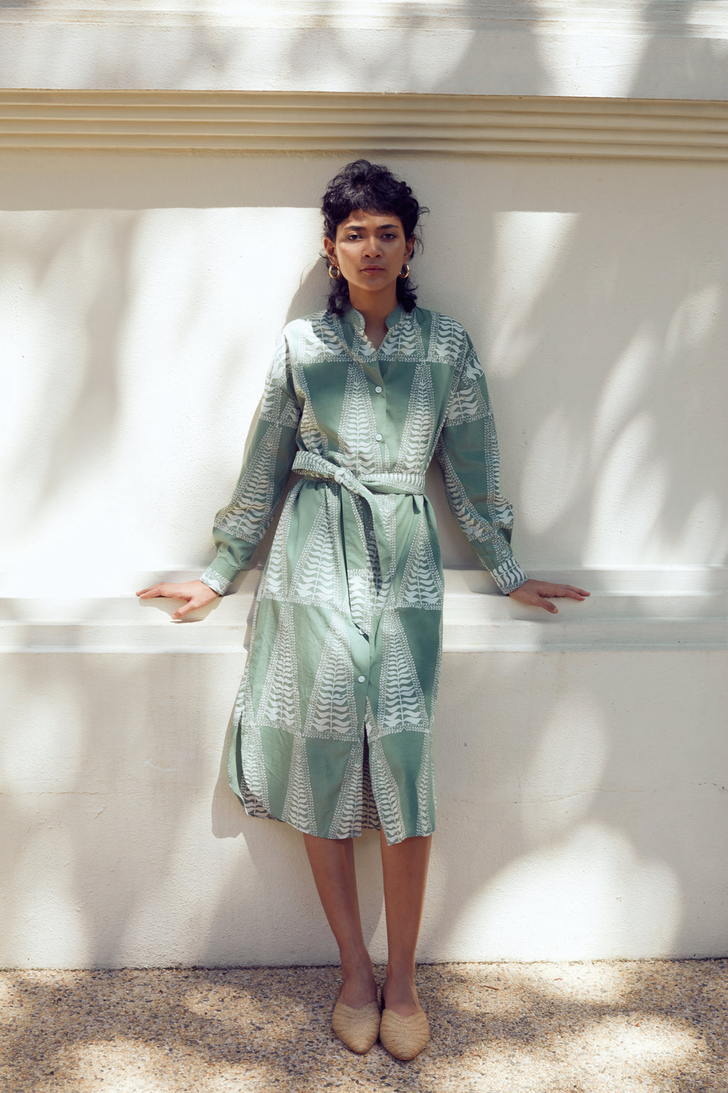 Sabrina Shirt Dress - FERN