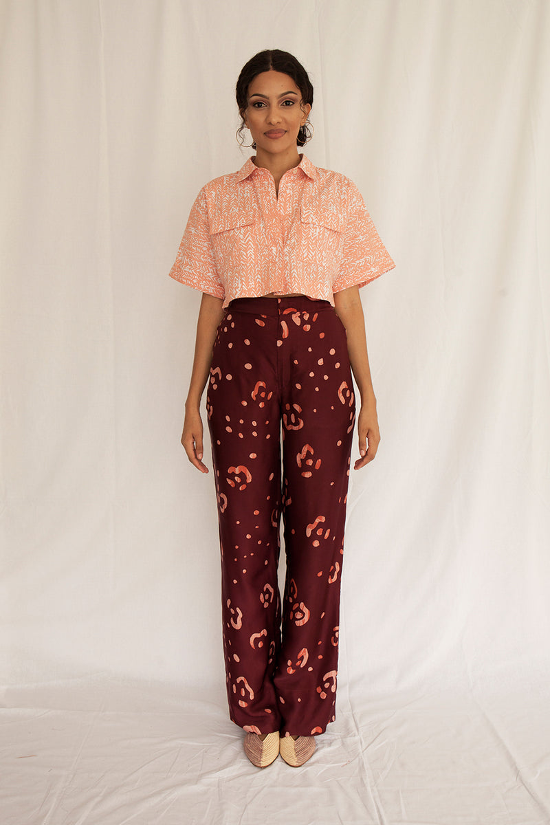Willow Cropped Top with Pockets - FERN