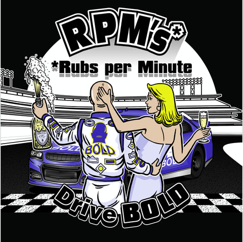 RPM's...RUBS PER MINUTE on charcoal 100% cotton ss t-shirt