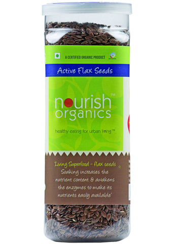 Organic Active Alsi (Flax Seeds), Nourish Organics (200gm)