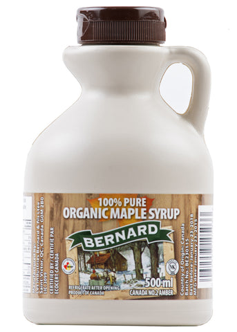 Organic Maple Syrup, Bernard (500 ml)