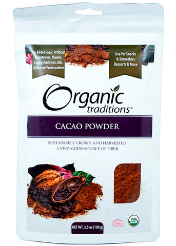 Organic Raw Cacao Powder, Organic Traditions (100gm)