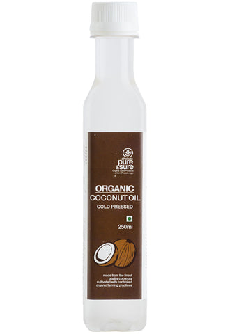 Organic Coconut Oil, Pure & Sure (250ml)