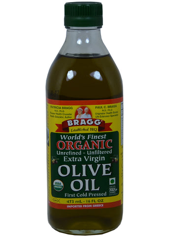 Organic Extra Virgin Olive Oil, Bragg (16 Oz)