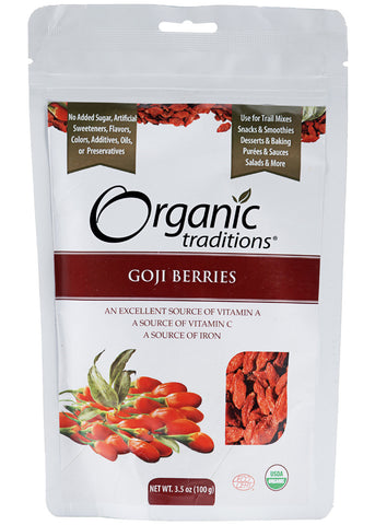 Organic Goji Berries, Organic Traditions (100gm)