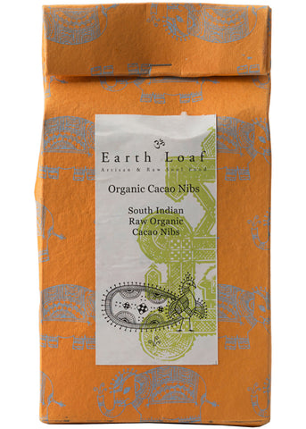 Organic Raw Cacao Nibs, Earth Loaf (200gm)