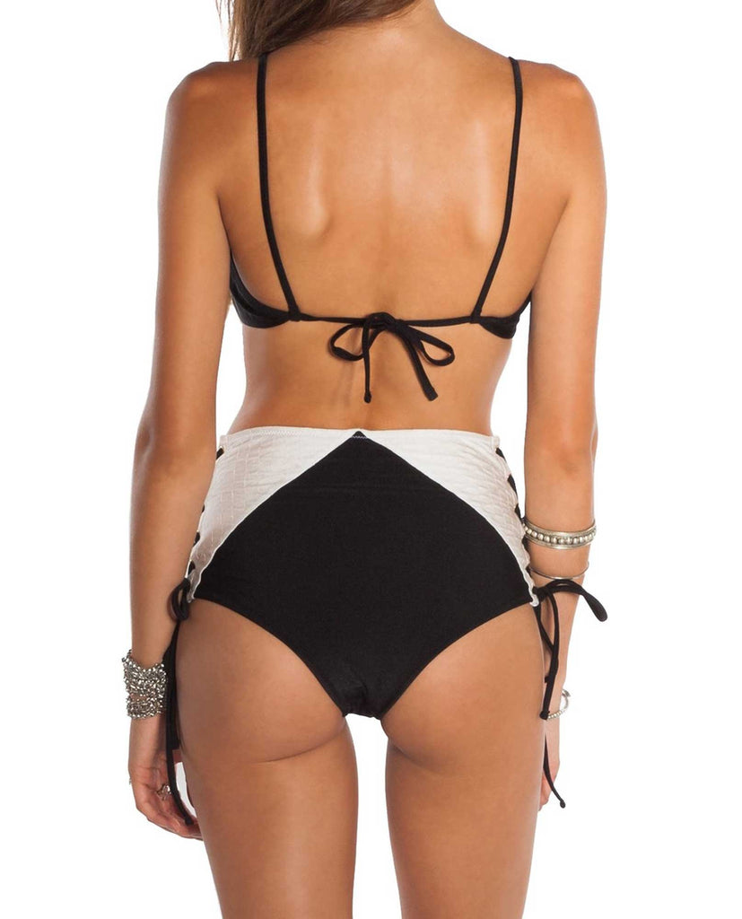 Amuse Zoe Quilted High Waisted Pant Back View