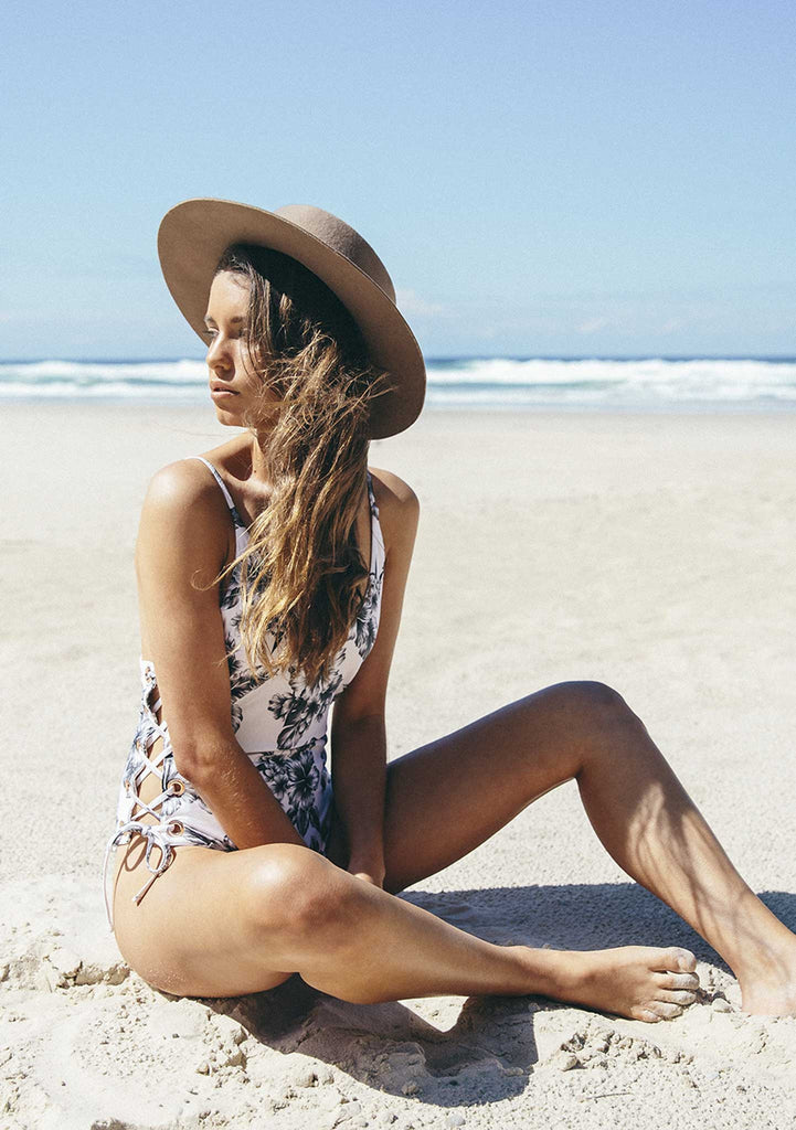 Faye Aloha Tropical One Piece Featured in the Sunkissed Campaign