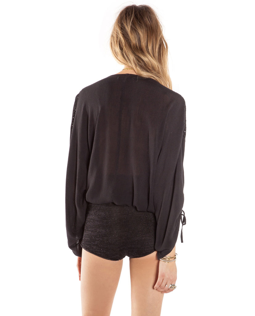 Amuse Society Indie Woven Top - Black Blouse - View 3