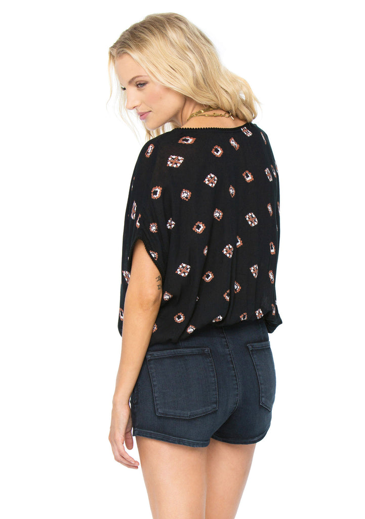 Amuse Aztec Woven Top - Back View