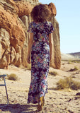 Auguste Beach House Wrap Maxi Dress - Back View
