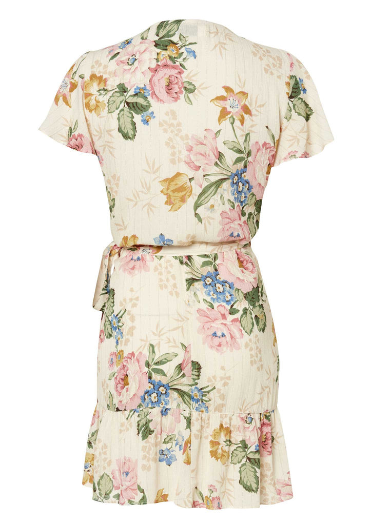 Auguste Frill Wrap Mini Dress - Flatlay Back View