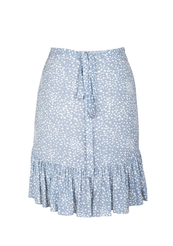 Auguste Edie Sweetheart Skirt Dusty Blue - Flatlay Back View