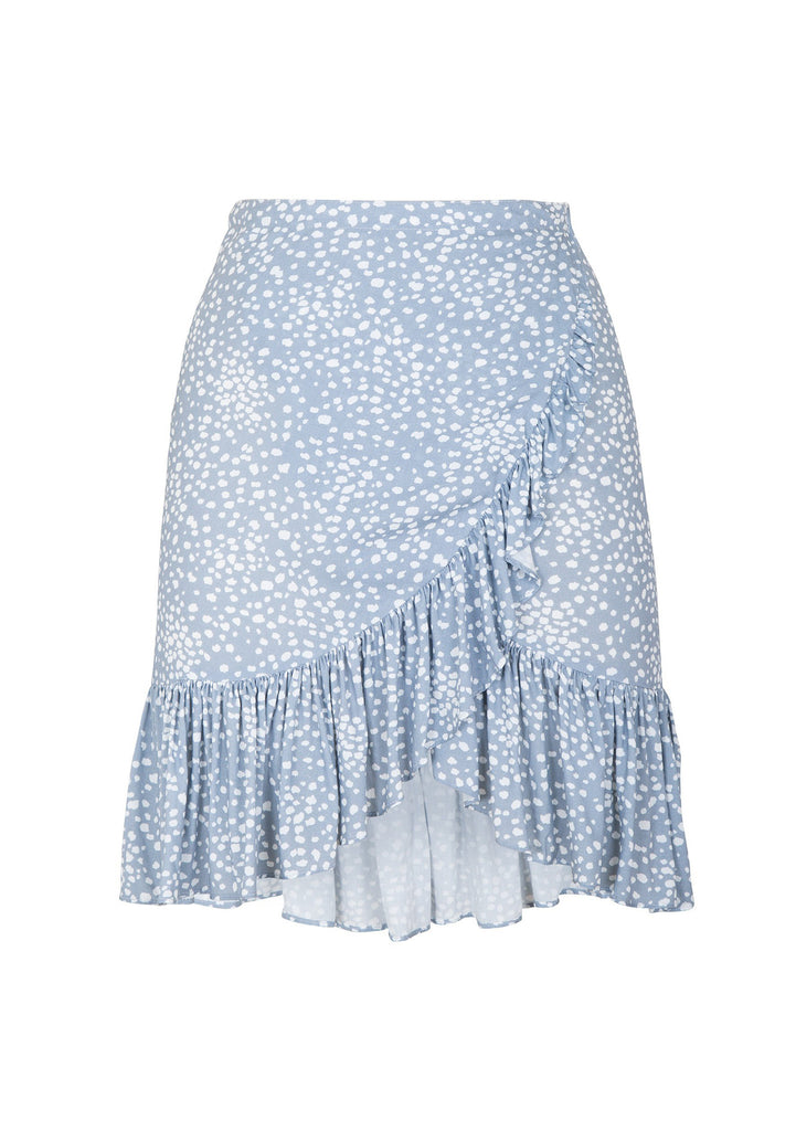 Auguste Edie Sweetheart Skirt Dusty Blue - Flatlay Front View