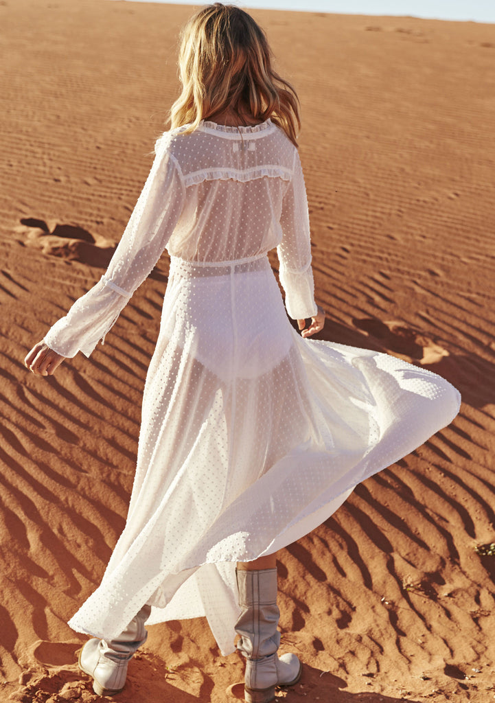 Auguste Heavenly Maxi Dress Worn by Cisco Sun