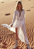 Auguste Vagabond Heavenly White Maxi Dress Front View