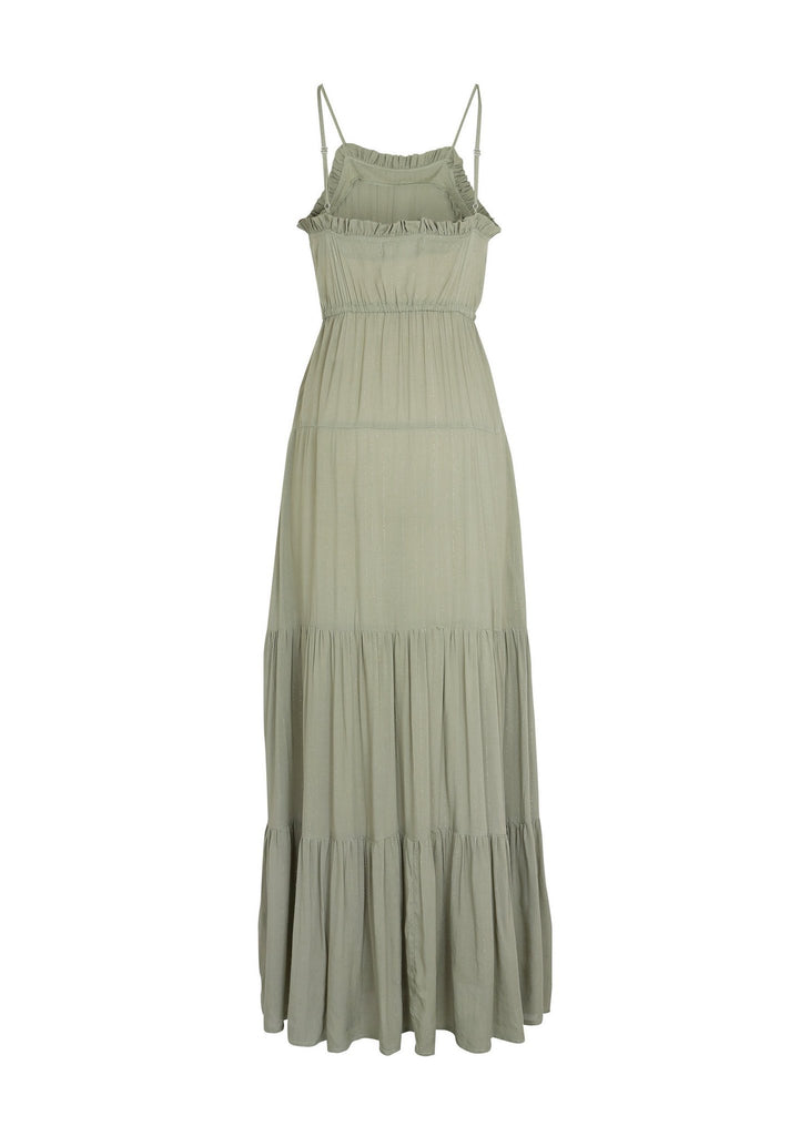 Auguste Luella Fleur Maxi Dress Khaki FlayLay Back View