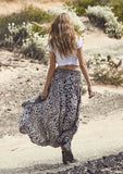 Auguste The Open Road Shirred Waist Maxi Skirt Back View
