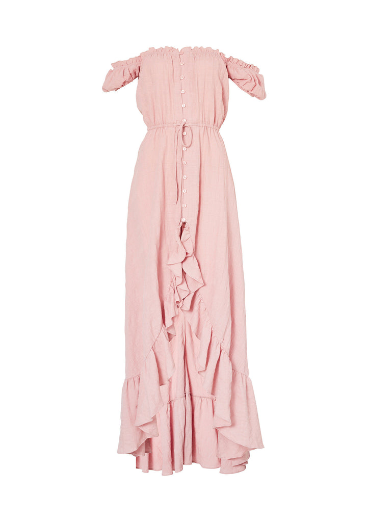 Auguste Willow Day Dress Blush Flatlay Front View