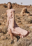 Auguste Willow Day Dress Blush Front View