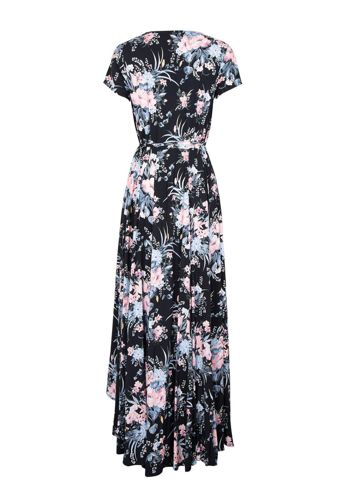 Auguste Scarlett Wrap Maxi Dress Flatlay Back View