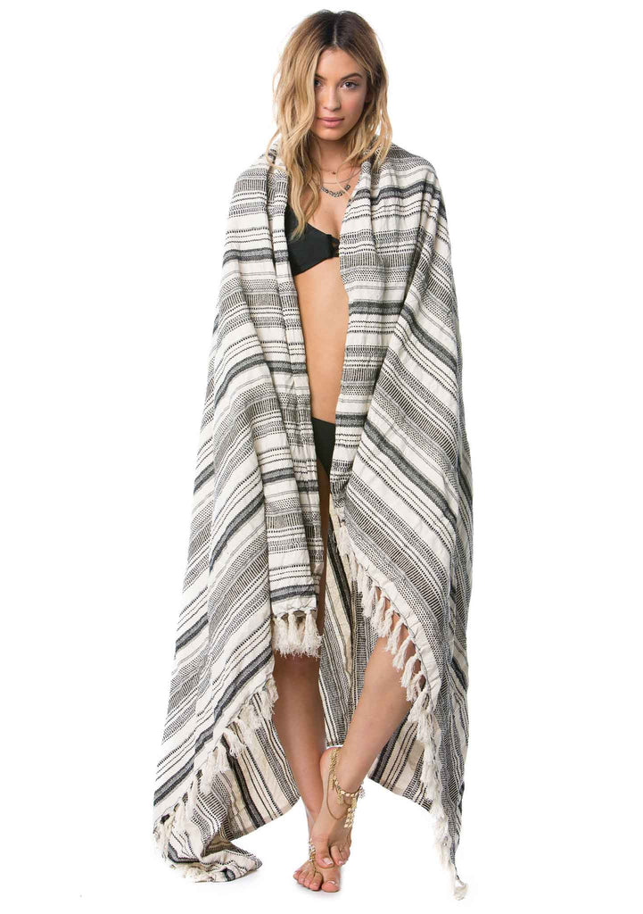 Amuse Del Mar Beach Blanket - Beach Towels - Drapped over Girl