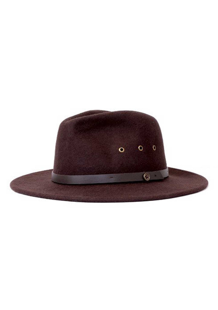 Fallen Broken Street - The Ratatat Fedora Hat - Chocolate