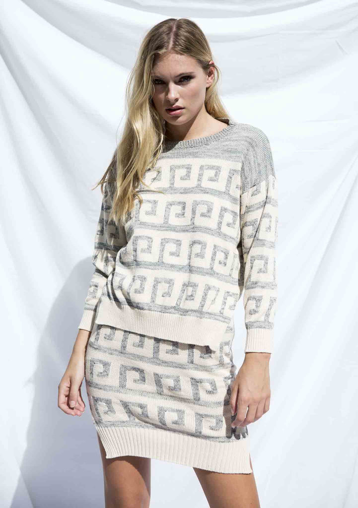 Lottie Hall Tidal Knit Jumper Cream Front View