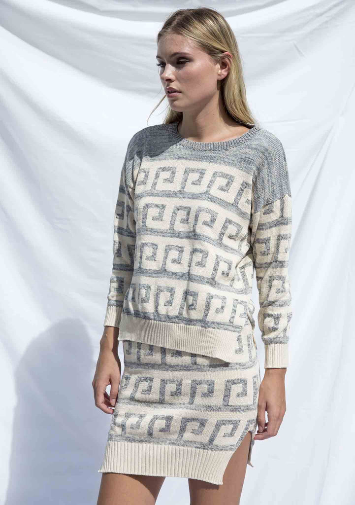 Lottie Hall Tidal Knit Jumper Cream Side View