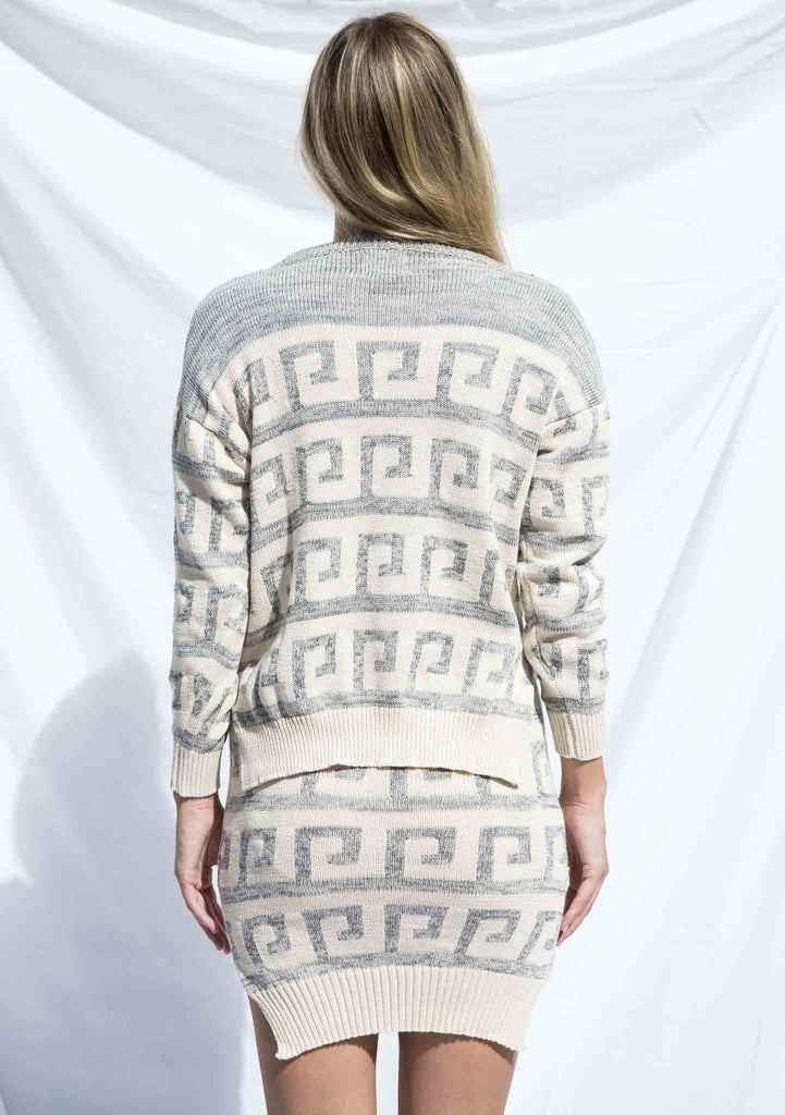 Lottie Hall Tidal Knit Jumper Cream Back View
