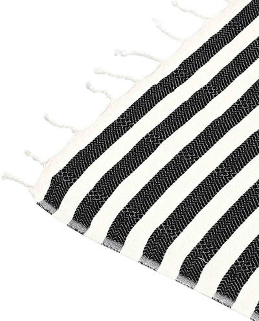 Mayde Reef Towel Black -Turkish Towels - Beach Towel - View 3