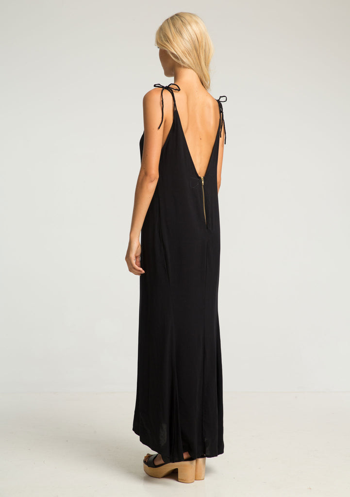 Rue Stiic Citra Maxi Dress Black - Back View