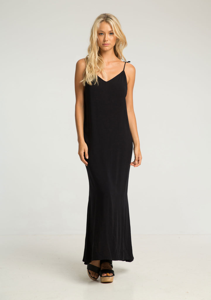 Rue Stiic Citra Maxi Dress Black - Front View 2
