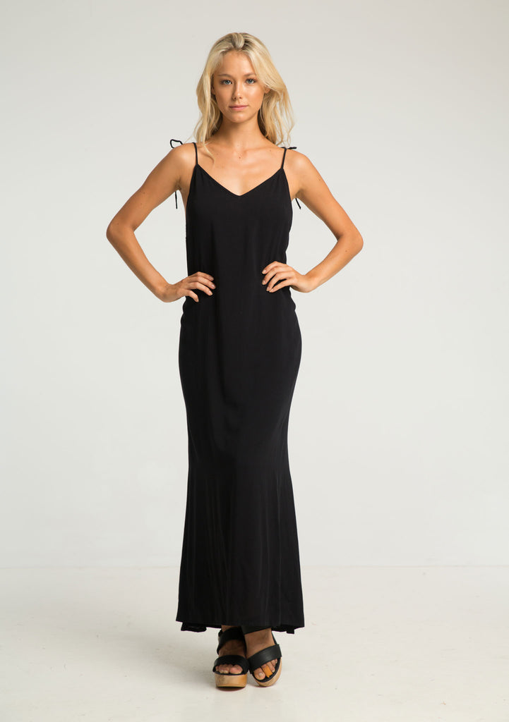 Rue Stiic Citra Maxi Dress Black - Front View