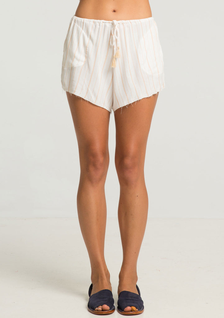 Rue Stiic Harta Shorts - Sand Stripe - Front View